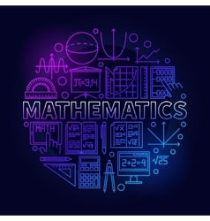 Math linear colorful symbol vector image vector image