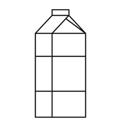 Milk box icon outline style vector image vector image
