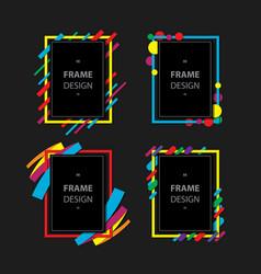 modern frame vector image vector image