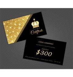 Modern glamour gift certificate vector