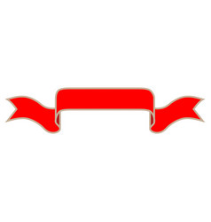 ribbon red sign 1411 vector image vector image