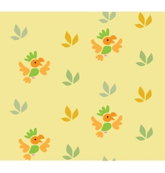 Seamless pattern with funny parrots vector