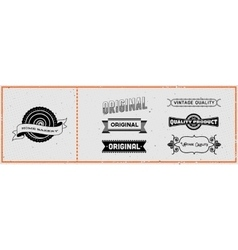 Set of retro hipster labels vector image