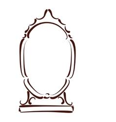 Sketched mirror vector image vector image