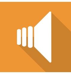 speaker icon flat design vector image vector image