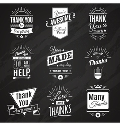 Thank you chalkboard signs vector