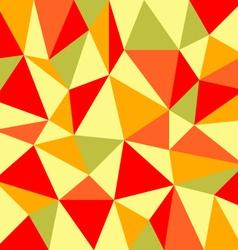 Triangular retro autumn background vector