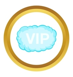 Vip word in a cloud icon vector