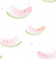 Watermelon seamless pattern artistic watercolor vector image vector image