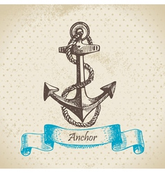 Anchor hand drawn vector