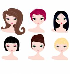 hairstyles for women vector image