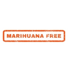 Marihuana free rubber stamp vector