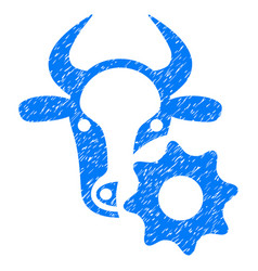 Cow options gear icon grunge watermark vector