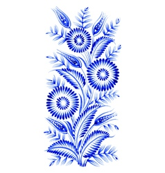Blue flower composition vector