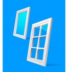 perspective plastic window illustration vector image
