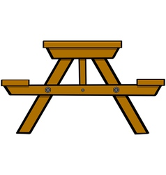 Picnic table vector