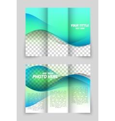 Wave aqua brochure vector image