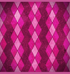 Pink purple rhombuses grunge background vector
