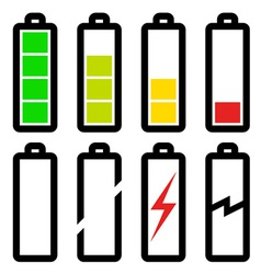 Symbols of battery level vector