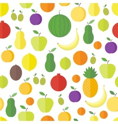 Seamless pattern with fruits and berries vector