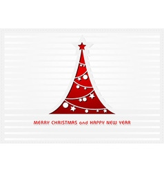 White Christmas Card vector image