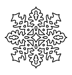 Isolated snowflake pattern on white background vector