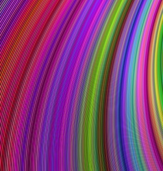 Multicolor curved stripe design background vector