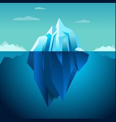 Blue background iceberg vector
