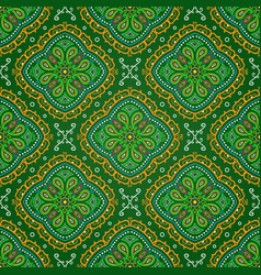 Bright seamless indian pattern paisley mandala on vector