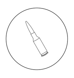Bullets icon outline single weapon icon from the vector