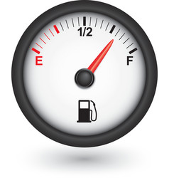 Car fuel gauge vector image