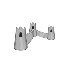 Castle with three towers icon vector image
