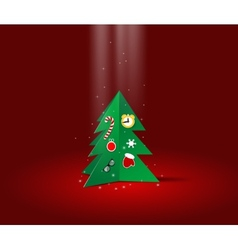 Christmas greating card with x-mas tree vector