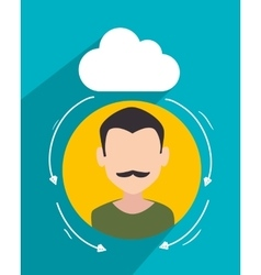 Customer service and technical support vector image