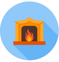 fireplace vector image vector image