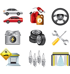 icons petrol vector image vector image