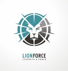 Lion head creative logo design vector