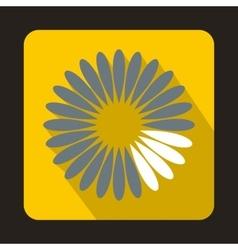 Loading circle icon flat style vector image