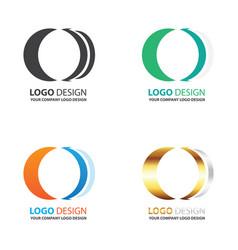 Logo circle design set vector