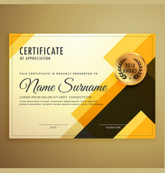 Modern creative certificate design template with vector