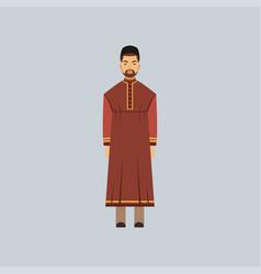 Muslim man in tradition costume representative of vector