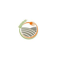 organic food farmland logo vector image