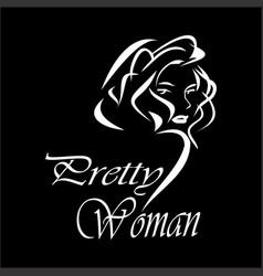 prety woman vector image