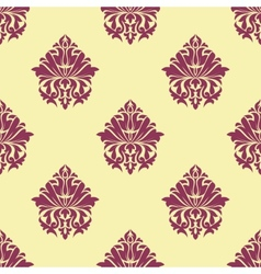 Purple and cream arabesque seamless pattern vector