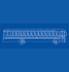 school bus outline vector image
