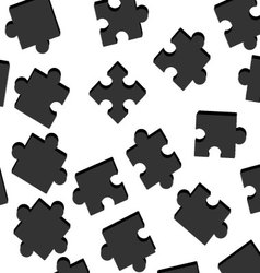 Seamless puzzle pattern vector image