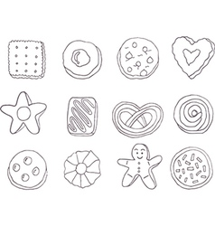 Set of fancy cookies vector image vector image