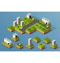Set of isometric city vector image vector image