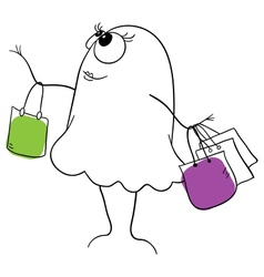 Shopper vector image vector image