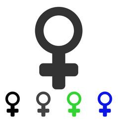 Venus symbol flat icon vector